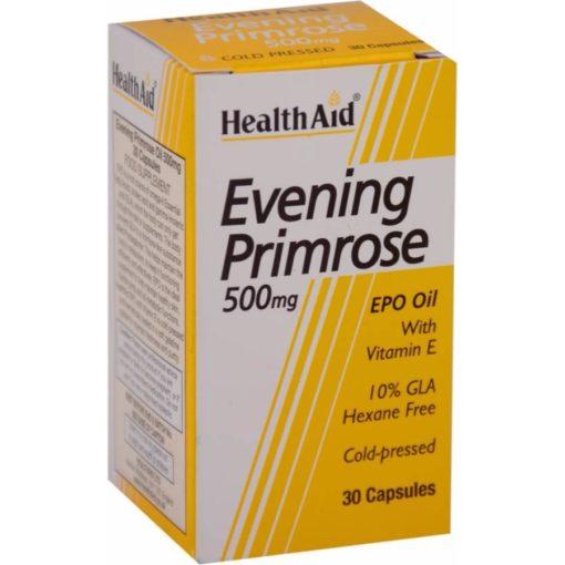 HealthAid Evening Primrose Oil 500mg With Vitamin E (30 capsules)