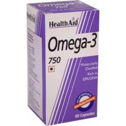 HealthAid Omega 3 750mg (EPA 425mg, DHA 325mg) - 60 Caps