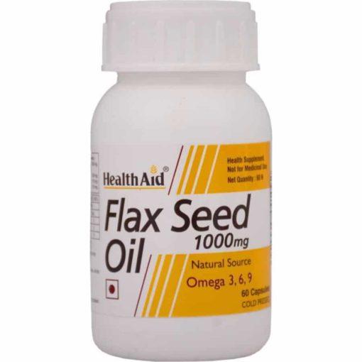 HealthAid Flaxseed Oil 1000mg (Omega 3.6.9)