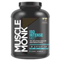 Muscle Monk ISO Intense MEC® 100% Whey Protein Isolate with Muti-Enzyme Complex
