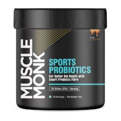 Muscle Monk Sports Probiotic- For Better Gut Health with Smart Prebiotic Fibre