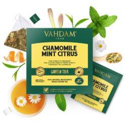 VAHDAM TEAS Chamomile Mint Citrus Green Tea