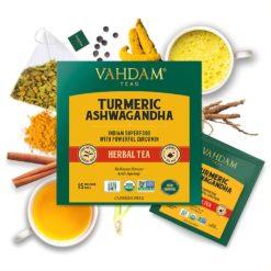 VAHDAM TEAS  Turmeric Ashwagandha Herbal Tea Tisane