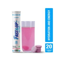 Fast&Up Reload (Electrolytes) for Instant Energy & Hydration Sports Drink (Tube of 20 Tabs)