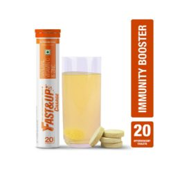 Fast&Up Charge with Natural Vitamin C and Zinc for Immunity (Tube of 20 Tabs)