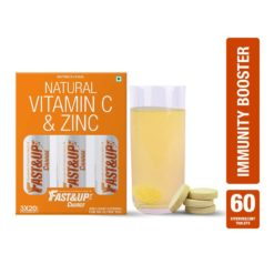 Fast&Up Charge with Natural Vitamin C and Zinc for Immunity (3 Tubes)