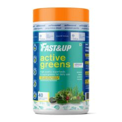 Fast&Up Active Greens, Plant Based Superfood Blend with Digestive Enzymes, Unflavored & Unsweetened