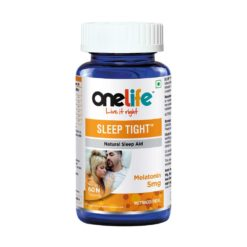 Onelife Sleep Tight Melatonin 5mg Support Reduce Stress & Anxiety - Improves Relaxation & Natural Sleep Cycle