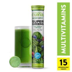 Olena Supergreen + Multivitamins Effervescent (15 servings per tube)
