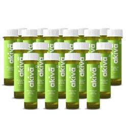 Akiva Wheatgrass Lemon Coriander Antioxidant Rich Blood Purification Shots for overall Wellness