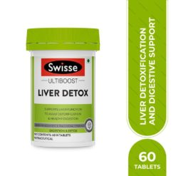 Swisse Ultiboost Liver Detox Supplement for Complete Liver Support, Cleansing and Detox