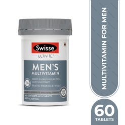 Swisse Ultivite Men's Multivitamin Supplement for Relieving Fatigue & Tiredness and assisting Energy, Stamina & Vitality production