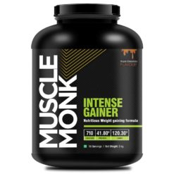 Muscle Monk Intense Mass Gainer with 120.3 G Carbs | 710 kcal | 41.8 G protein