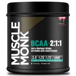 Muscle Monk BCAA 2:1:1 with electrolytes | Recovery and Endurance BCAA Powder, pre/Post/Intra Workout