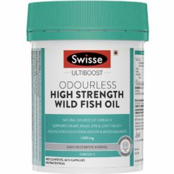 Swisse Ultiboost Odourless High Strength Wild Fish Oil with (1500 mg)