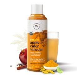 Wellbeing Nutrition Organic Apple Cider Vinegar with Mother of Vinegar (2X) with Amla, Turmeric, Cinnamon & Black Pepper