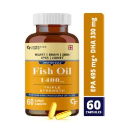 Carbamide Forte Triple Strength Fish Oil 1400mg with Omega 3 900mg Capsule for Men & Women