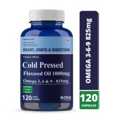 Carbamide Forte Cold Pressed Organic Flaxseed Oil 1000mg Omega 3 6 9