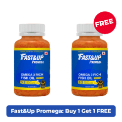 Fast&Up Promega - 1250mg Omega 3 with High EPA:DHA Burpless Fish Oil