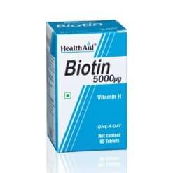 HealthAid Biotin 5000µg 60 tabs