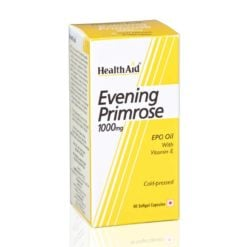 HealthAid Evening Primrose Oil 1000mg With Vitamin E
