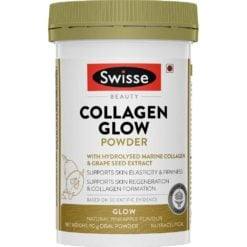 Swisse Beauty Collagen Glow Powder with Hydrolised Marine Collagen and Grape Seed Extract