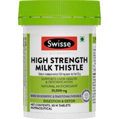 Swisse Ultiboost High Strength Milk Thistle, Natural Antioxidant Supports Liver Function & Detoxification