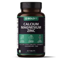 Boldfit Calcium Supplement 1000mg with Magnesium, Zinc, Vitamin D and B12