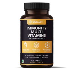 Boldfit Multivitamin with Probiotics Vitamin C, E, Zinc