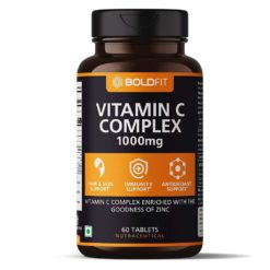 Boldfit Vitamin C Complex with Amla & Zinc, Immunity Antioxidant & Skincare Booster