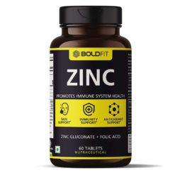Boldfit Zinc Supplement, 84 Mg Zinc Gluconate