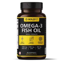 Boldfit Triple Strength Fish Oil Supplement (550 Mg EPA & 350 Mg DHA) Omega 3