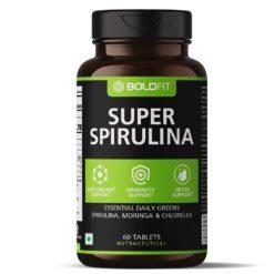 Boldfit Spirulina 500 Mg Supplement with Moringa Oleifera & Chlorella