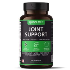 Boldfit Joint Support Supplement with Glucosamine MSM Chondroitin Boswellia Serrata and Rosehip Extract