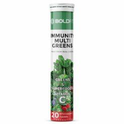 Boldfit Immunity Multi Greens Greens Supplement & Whole Food Multivitamin (20 Effervescents Tablets)