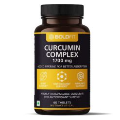 Boldfit Curcumin Complex Supplements 1700 Mg with Piperine 10 Mg