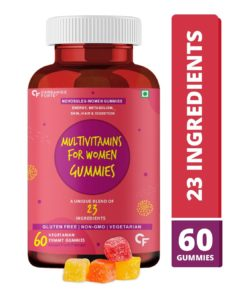 Carbamide Forte Multivitamin for Women Gummies with Biotin for Hair, Skin & Nails, Superfoods & Antioxidants for Immunity & Probiotics for Digestion
