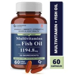 Carbamide Forte Multivitamin with Omega 3 Fish Oil 1000mg with 30 Ingredients for Immunity, Energy, Bone & Joint Health