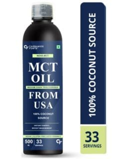 Carbamide Forte Pure MCT Oil C8 Organic From USA   100% Coconut Source   Keto & Paleo Friendly