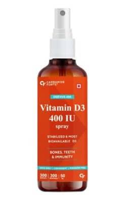 Carbamide Forte Vitamin D3 400 IU Spray Supplement- Adjustable Dose