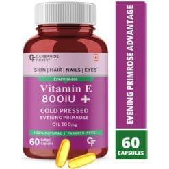 Carbamide Forte Vitamin E 800 IU Oil + Evening Primrose Oil 200mg