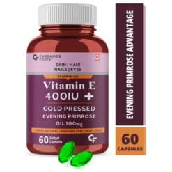 Carbamide Forte Vitamin E 400 IU Capsules for Face and Hair with Evening Primrose Oil