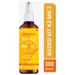 Carbamide Forte Vitamin D3 400 IU with Vitamin K2 MK7 55mcg Spray