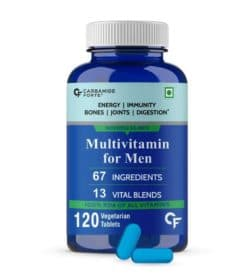 Carbamide Forte Multivitamin for Men for Immunity & Energy with 67 Ingredients