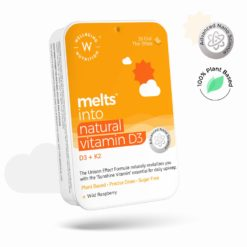 Wellbeing Nutrition Melts Natural Vitamin D3 + K2 (MK-7) with Organic Virgin Coconut Oil & Astaxanthin
