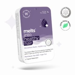 Wellbeing Nutrition Melts Healthy Hair with Plant Based Biotin 10000mcg