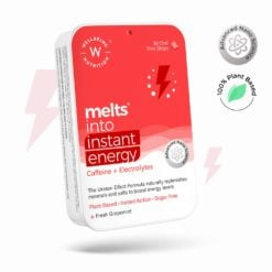 Wellbeing Nutrition Melts Instant Energy, 100% Plant Based Green Tea Caffeine, Essential Electrolytes and Vitamins