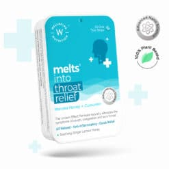 Wellbeing Nutrition Melts Instant Throat Relief with 100% Natural Tulsi, Manuka Honey, Clove, Licorice,Curcumin, Ginger, Mint
