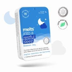 Wellbeing Nutrition Melts Restful Sleep, Plant Based Melatonin 5mg