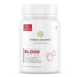 Foresta Organics Blood Detox with Curcumin (Turmeric Extract), Neem, Manjistha & Beetroot